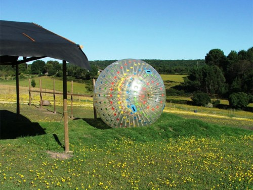 Zorbing at Southern Comfort